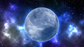 在外层空间的地球类型行星 免版税库存图片