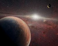 在外层空间的外籍人行星 美国航空航天局装备的这个图象的元素 库存照片