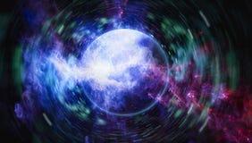 在外层空间的星际远离地球的许多光年 美国航空航天局装备的这个图象的元素 库存照片