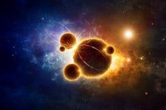 在外层空间的Supermassive地球外的生活型 库存图片