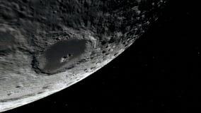 在外层空间,表面的月亮 美国航空航天局装备的这象元 库存照片