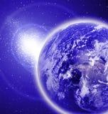 在外层空间的地球 免版税库存照片