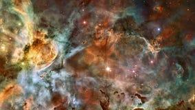 在外层空间的星云 皇族释放例证