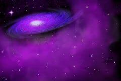 在外层空间的星系 免版税库存照片