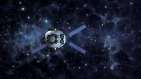 在外层空间的空间探索卫星 皇族释放例证