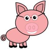 在外形的一头小的猪与玻璃 库存照片