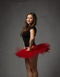 在外形观察的芭蕾舞女演员画象 库存照片