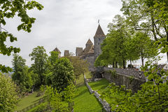 在多云天期间,拉珀斯维尔城堡 免版税库存图片