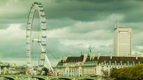 在多云天气的伦敦眼 影视素材
