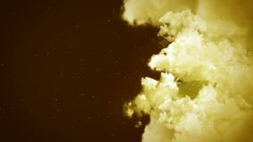 在多云天空的幻想风景,白色烟动画,圈背景, 影视素材