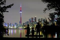 在多伦多地平线的浪漫看法 免版税库存照片