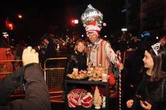 在多伦多蛇神步行的人群 图库摄影