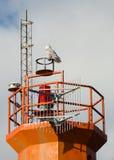 在多伦多,安大略灯塔的斯诺伊猫头鹰 库存照片