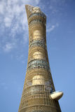 在多哈,卡塔尔亦称向往塔火炬旅馆 免版税图库摄影