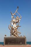在多哈Corniche的书法雕塑  库存图片
