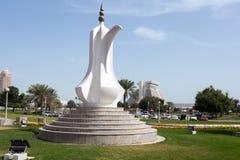 在多哈Corniche的Dallah 免版税库存图片