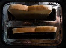 在多士炉的多士面包 免版税图库摄影