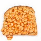 在多士的豆 免版税库存照片