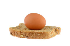 在多士的鸡蛋 免版税库存图片