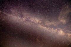 在多尔县威斯康辛天空的银河  免版税库存照片