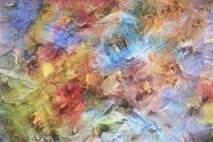 在多彩多姿的背景的下落的秋叶 图库摄影