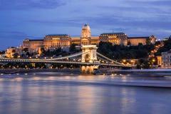 在多瑙河的匈牙利地标 免版税库存照片