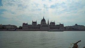 在多瑙河的匈牙利议会 股票录像