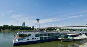 在多瑙河的客船 库存照片