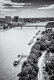 在多瑙河的桥梁在布拉索夫,无色 库存照片