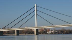 在多瑙河的桥梁在诺维萨德,塞尔维亚 股票录像