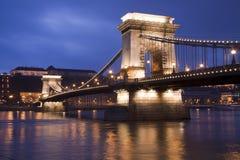 在多瑙河的桥梁 免版税图库摄影