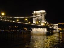 在多瑙河的桥梁 免版税库存照片