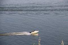 在多瑙河的汽船, Galati 免版税库存照片