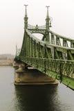 在多瑙河的自由桥梁在布达佩斯 库存照片