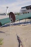 在多瑙河的水位高在布拉索夫,斯洛伐克 图库摄影