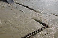在多瑙河的洪水 图库摄影