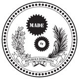 在多米尼加共和国制造的工业标志 皇族释放例证