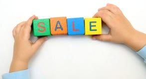 在多维数据集的字销售额 免版税库存图片