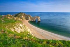 在多西特,英国侏罗纪海岸的Durdle门  免版税库存图片