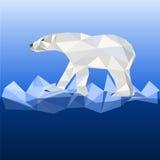 在多角形样式的白熊 库存图片