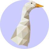 在多角形样式的鹅 趋向的时尚例证在s的 图库摄影