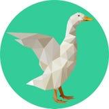 在多角形样式的鹅 趋向的时尚例证在s的 免版税图库摄影