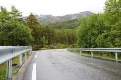 在多雨天气的路 库存图片