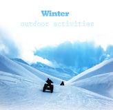 在多雪的山的Qard自行车 库存图片