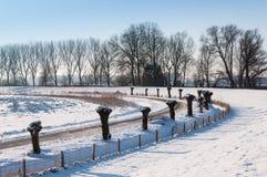 在多雪的荷兰语横向的曲线 库存图片
