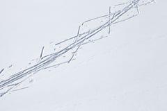 冬季体育背景,速度滑雪 免版税库存照片