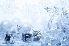 在多雪的题目的新年快乐 免版税库存图片