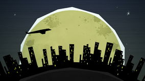在夜圈的都市风景 库存例证