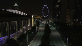 在夜期间,新加坡 股票录像