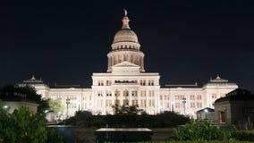 在夜着陆风景得克萨斯修建奥斯汀的国家资本 免版税库存照片